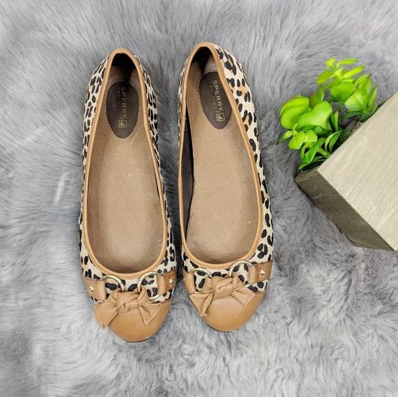 Flats Sperry Top-sider Angelfish Beige & Gold Nubuck & Mesh Boat Shoe Women 10 M Women's Shoes